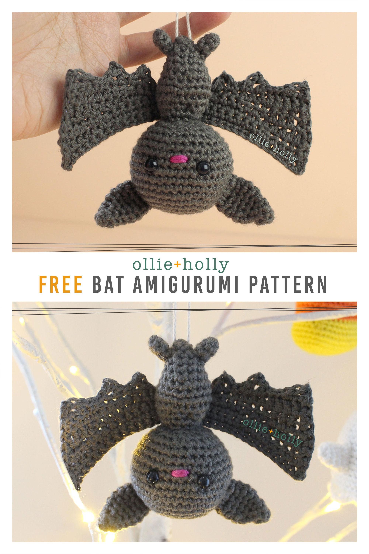 Free Halloween Bat Ornament Amigurumi Crochet Pattern