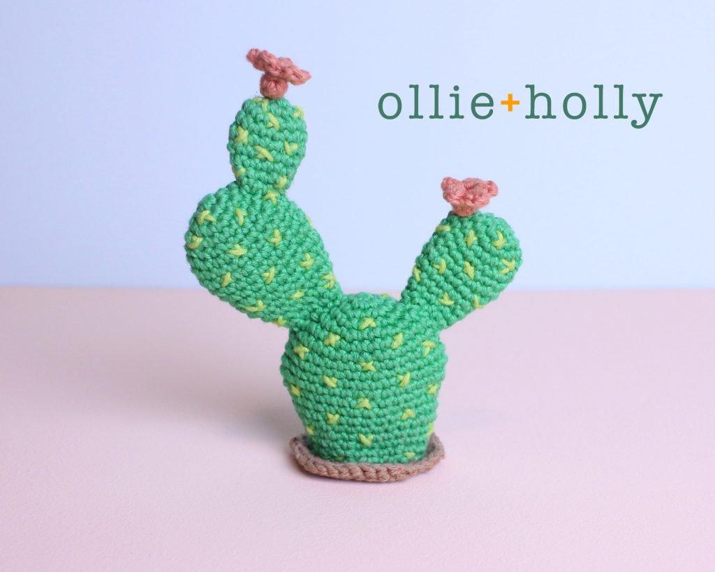 Bunny Ears Cactus Amigurumi Crochet Pattern