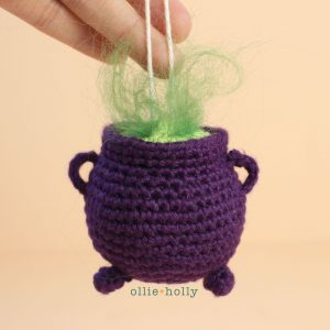 Witch's Cauldron Amigurumi Crochet Ornament (Pattern Only)
