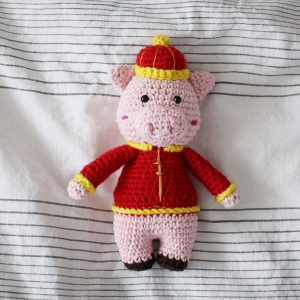 Chinese New Year Pig Amigurumi Crochet (Pattern Only)