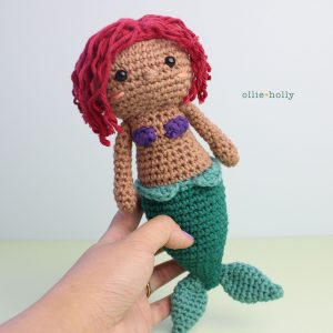 Little Mermaid Ariel Amigurumi Crochet (Pattern Only)