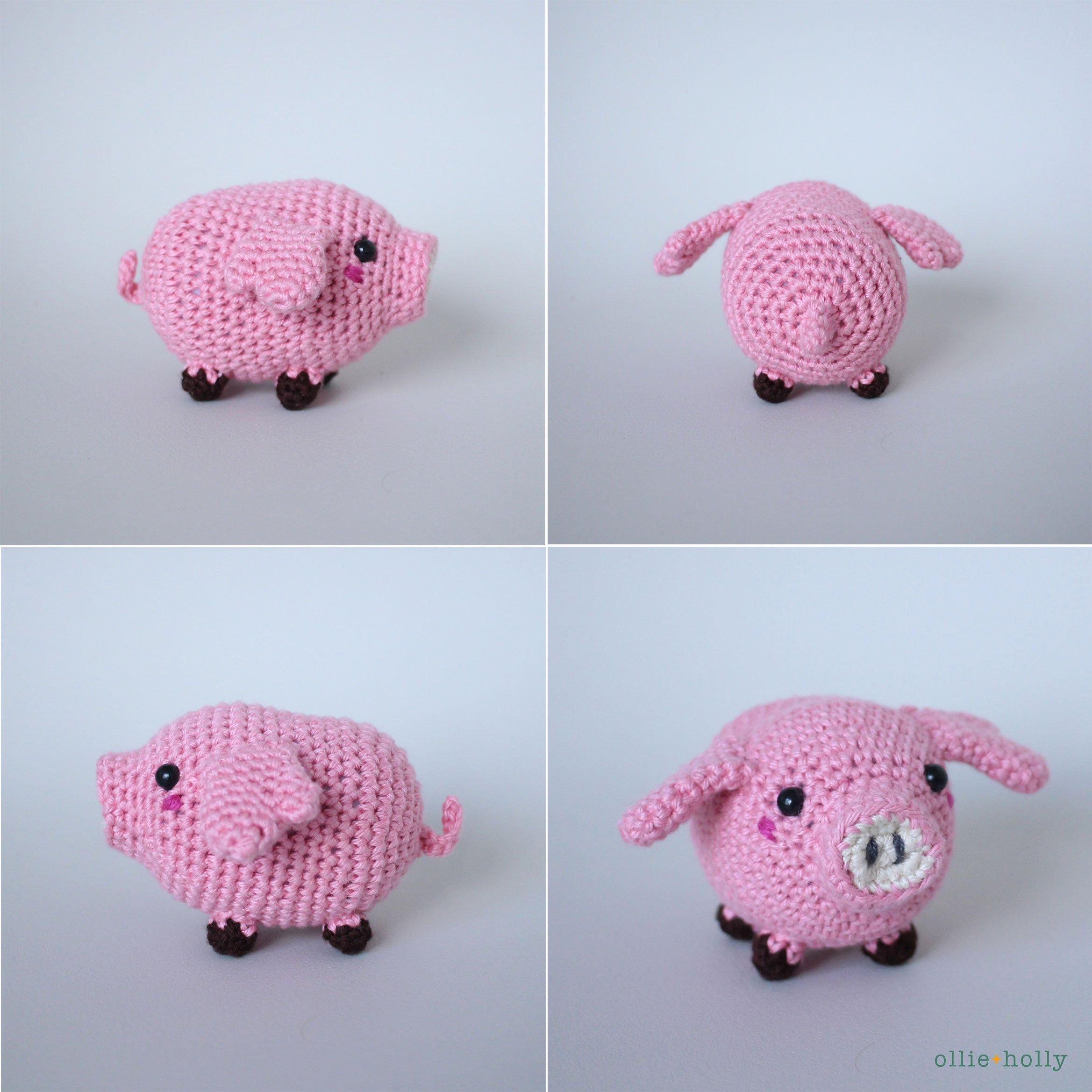 Little Piglet Crochet Amigurumi Toy | 2337x2337