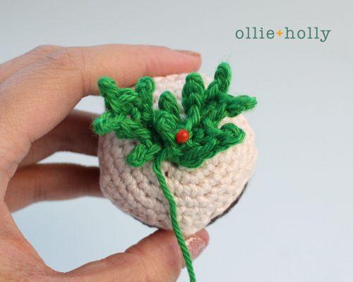 Free Christmas Pudding Ornament Amigurumi Crochet Pattern Step 7
