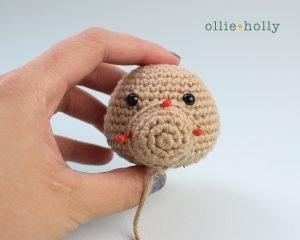 Free Rudolph Reindeer Amigurumi Christmas Ornament Crochet Pattern Step 7