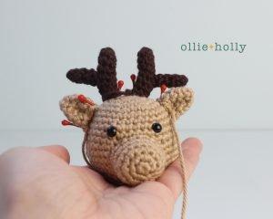Free Rudolph Reindeer Amigurumi Christmas Ornament Crochet Pattern Step 11