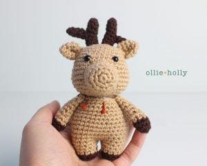 Free Rudolph Reindeer Amigurumi Christmas Ornament Crochet Pattern Step 12
