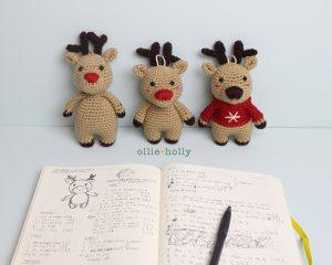 Free Rudolph Reindeer Amigurumi Ornament Crochet Pattern