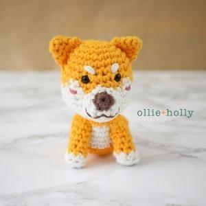 Shiba Inu Amigurumi Crochet (Pattern Only)