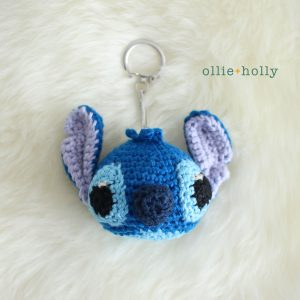 Stitch Amigurumi Crochet Keychain (Pattern Only)