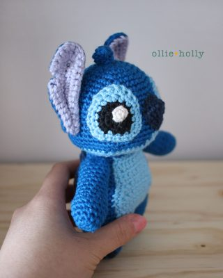 Lilo and Stitch Amigurumi Crochet Pattern Notes Side View