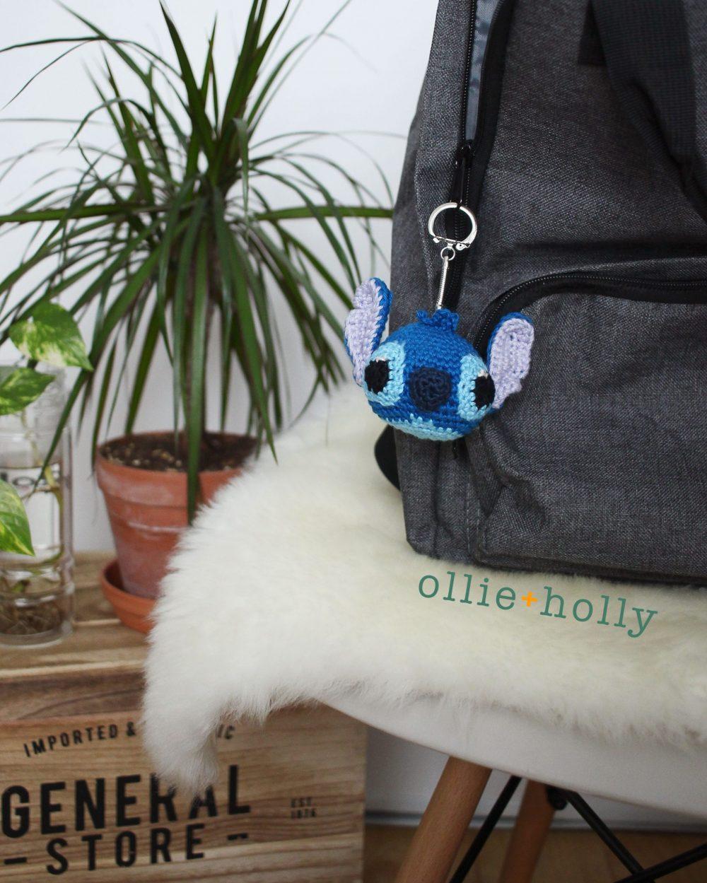 Free Disney Lilo & Stitch Amigurumi Crochet Keychain/Bag Charm Pattern On Bag