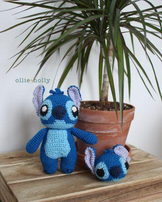 Free Disney Lilo & Stitch Amigurumi Crochet Keychain/Bag Charm Pattern