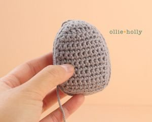 Free Halloween Tombstone Ornament Amigurumi Pattern Step 6
