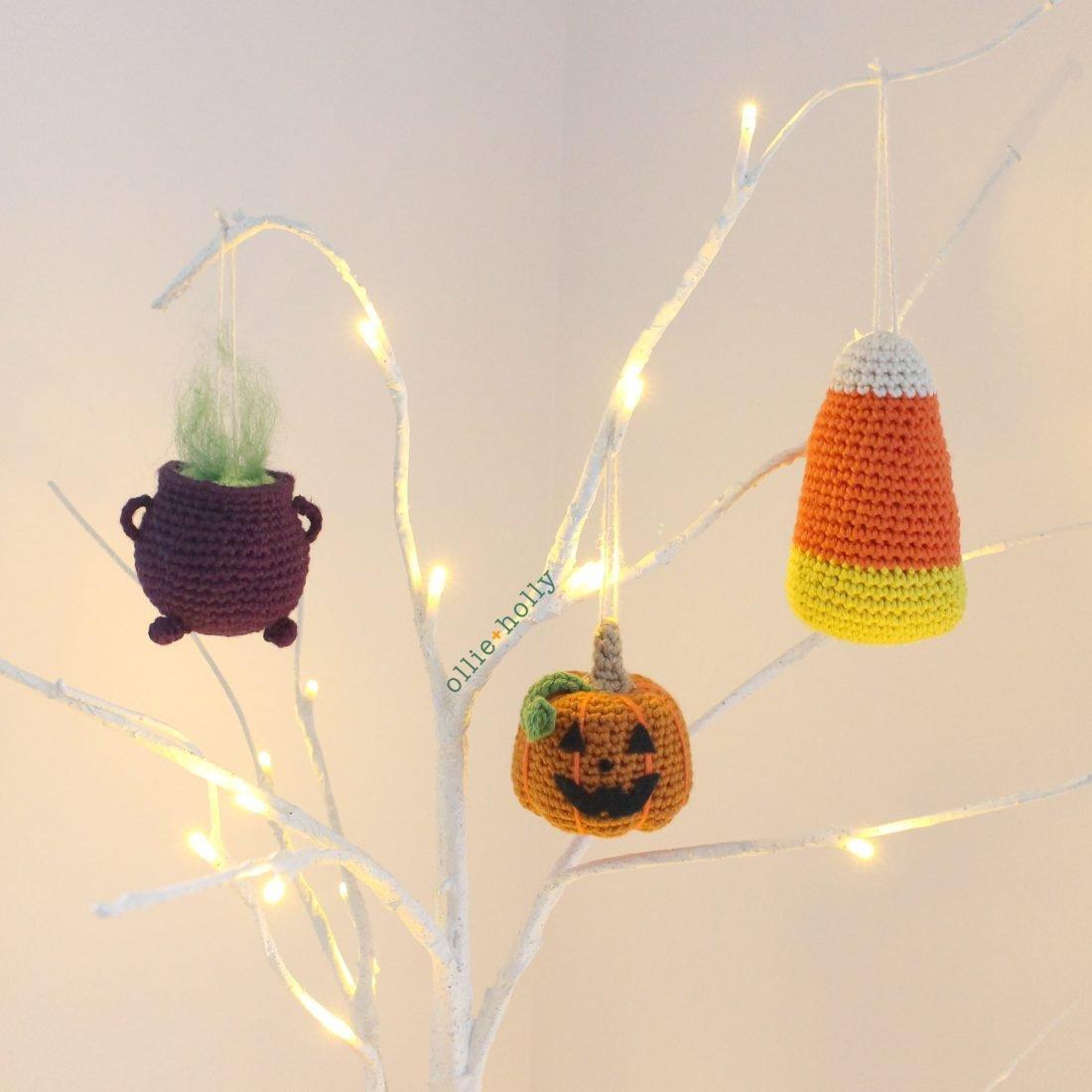 Trick or Treat Amigurumi Crochet Ornaments (Pattern Collection)