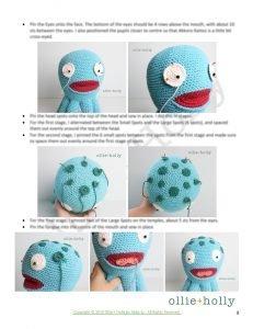 Louise Belcher's Stuffed Animal Akkoro Kamui (Bob's Burgers) Amigurumi Crochet Pattern Instructions