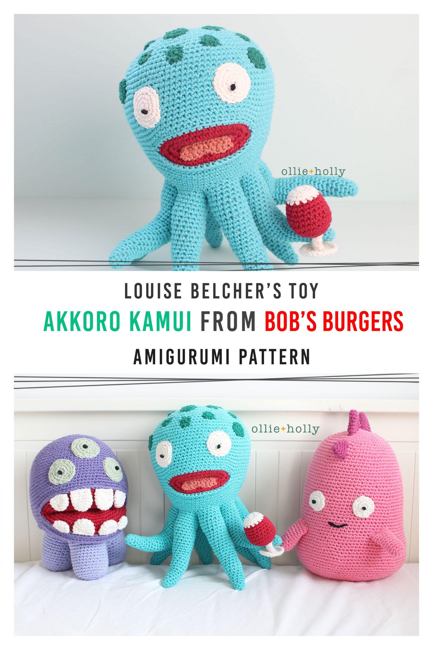 Louise Belcher's Stuffed Animal Akkoro Kamui (Bob's Burgers) Amigurumi Crochet Pattern