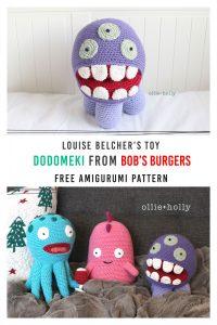 Free Bob's Burgers Louise Belcher Stuffed Animal Dodomeki Amigurumi Crochet Pattern Pinterest