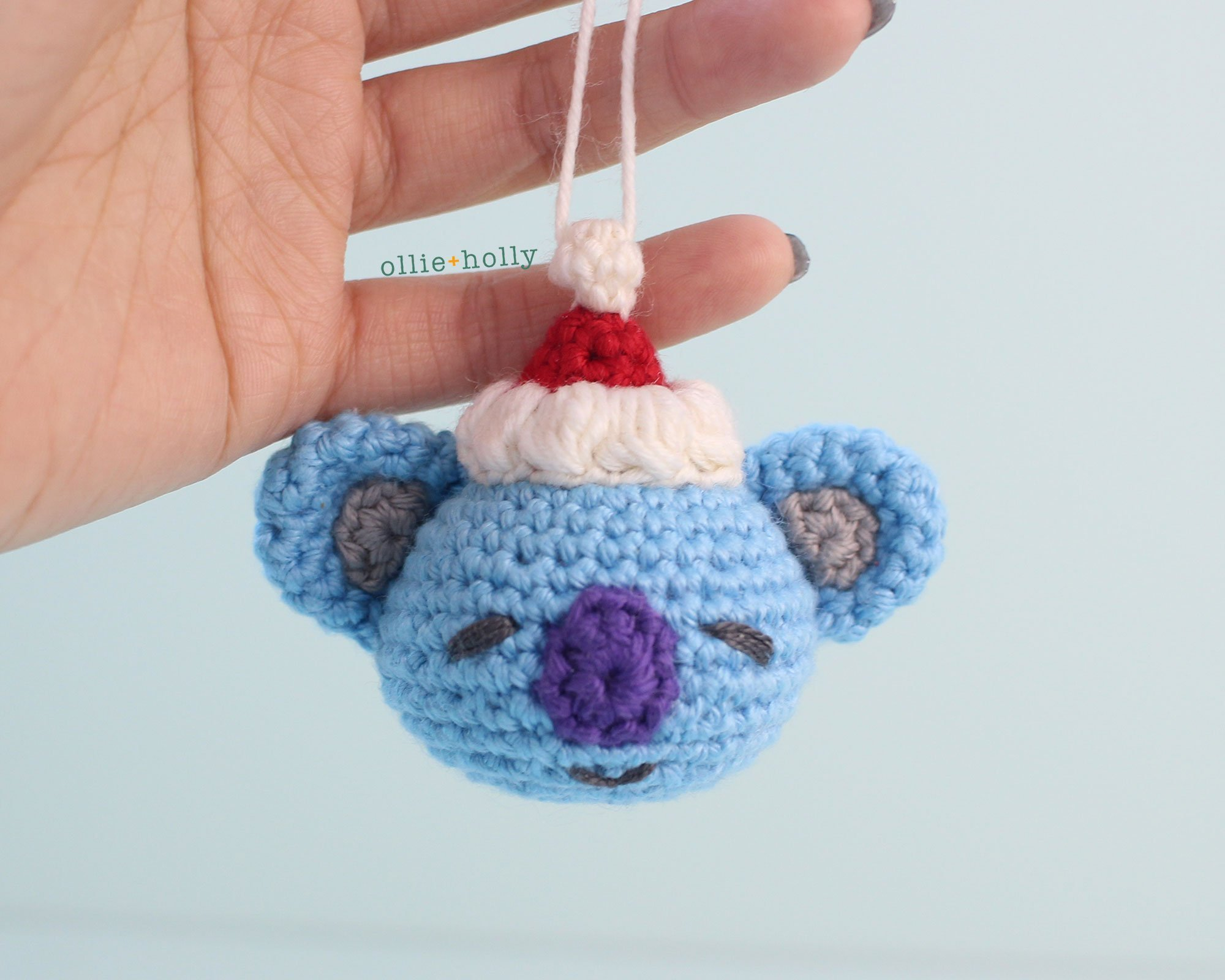 Free BT21 Koya Christmas Ornament Amigurumi Crochet Pattern Complete
