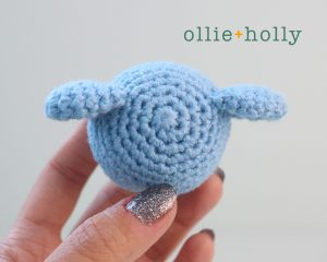 Free BT21 Koya Christmas Ornament Amigurumi Crochet Pattern Step 6