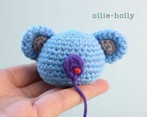 Free BT21 Koya Christmas Ornament Amigurumi Crochet Pattern Step 7