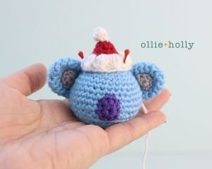 Free BT21 Koya Christmas Ornament Amigurumi Crochet Pattern Step 10