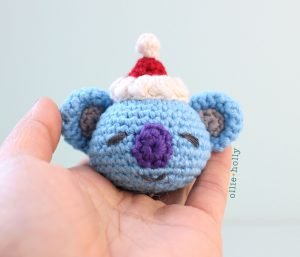 Free BT21 Koya Christmas Ornament Amigurumi Crochet Pattern Step 11
