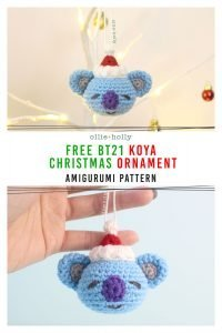 Free BT21 Koya Christmas Ornament Amigurumi Crochet Pattern
