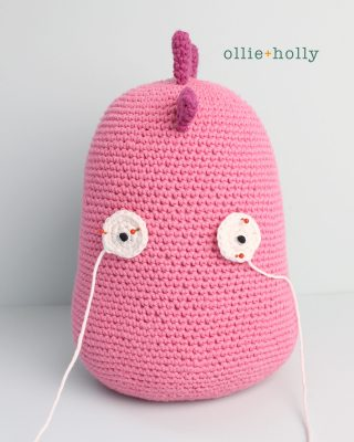 Free Bob's Burgers Louise Belcher Stuffed Toy Animal Mizuchi Amigurumi Crochet Pattern Step 11