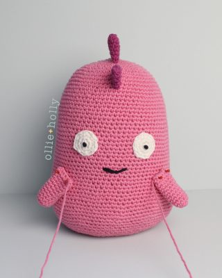 Free Bob's Burgers Louise Belcher Stuffed Toy Animal Mizuchi Amigurumi Crochet Pattern Step 12