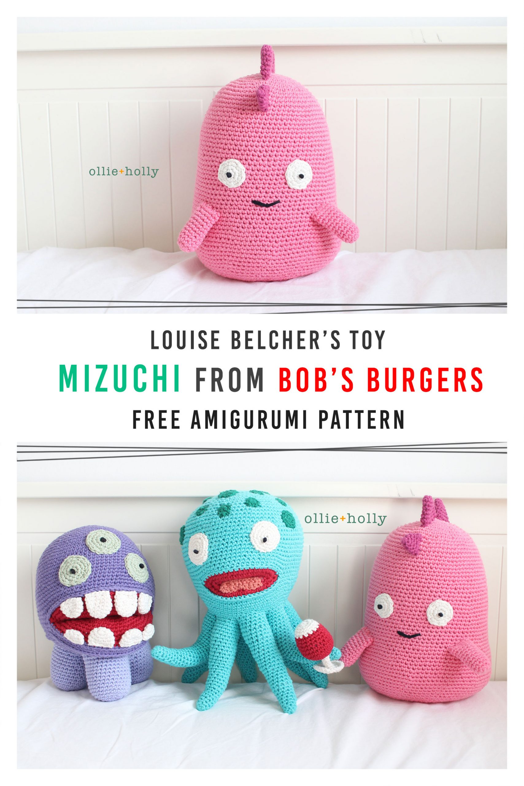 Free Bob's Burgers Louise Belcher Mizuchi Amigurumi Crochet Stuffed Toy Animal Pattern Pinterest
