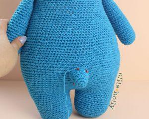 Louise Belcher's Stuffed Animal Bakeneko (Bob's Burgers) Amigurumi Crochet Pattern Tail WIP