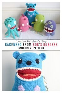 Louise Belcher's Stuffed Animal Bakeneko (Bob's Burgers) Amigurumi Crochet Pattern