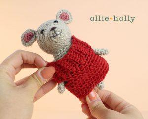 The Rescuers Bernard Mouse Free Amigurumi Crochet Pattern Sweater Step 10