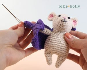 The Rescuers Miss Bianca Mouse Free Amigurumi Crochet Pattern Assembly Step 2