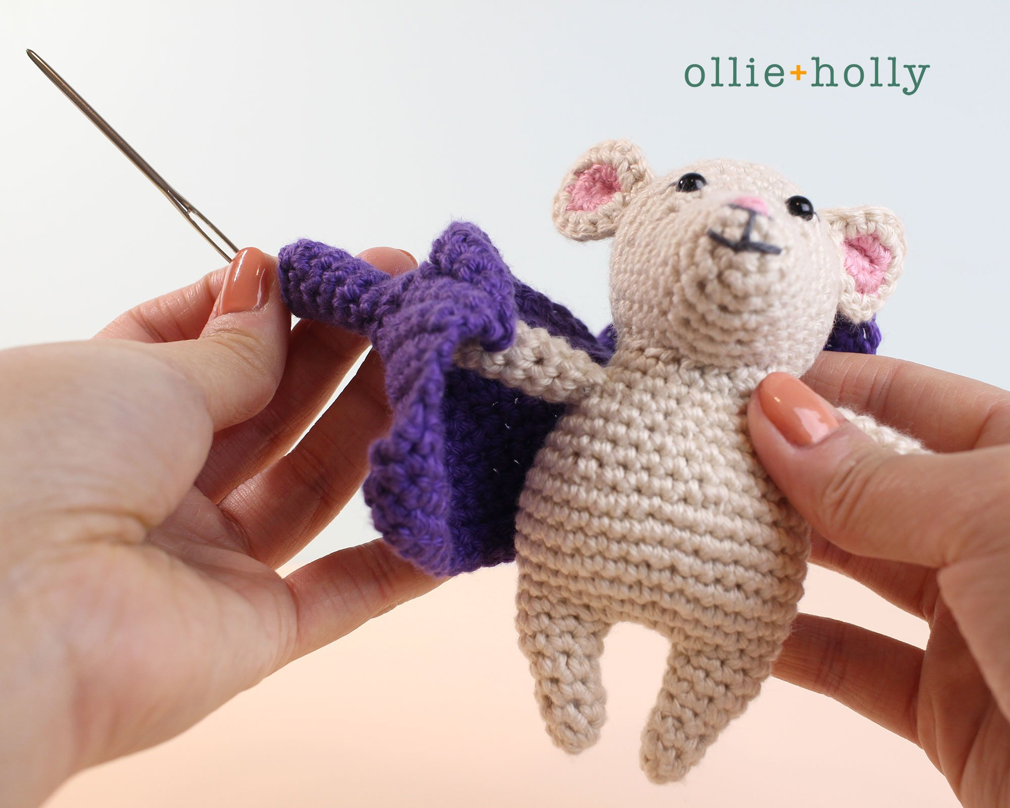 The Rescuers Miss Bianca Mouse Free Amigurumi Crochet Pattern Coat Assembly Step 2