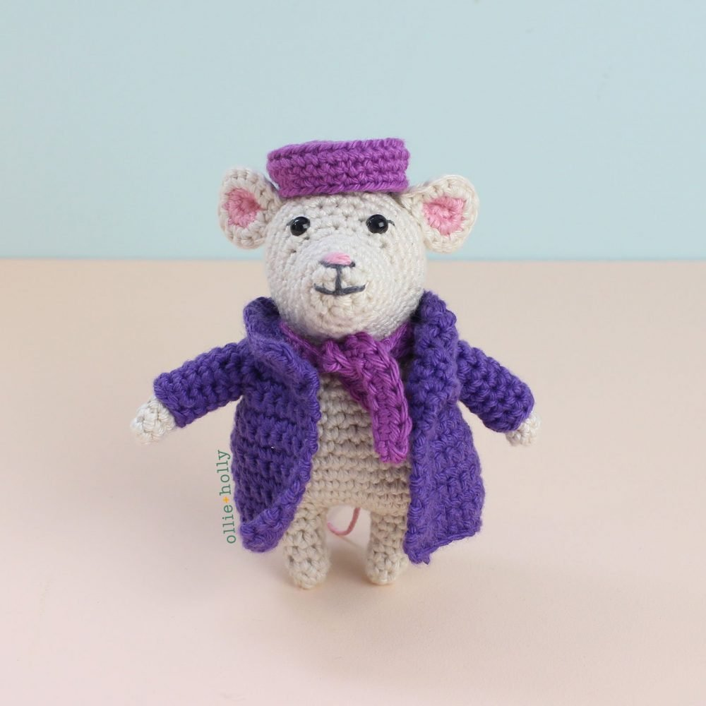 The Rescuers Miss Bianca Mouse Free Amigurumi Crochet Pattern Finished