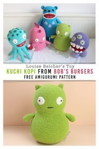 Free Louise Belcher's Stuffed Animal Kuchi Kopi (from Bob's Burgers) Amigurumi Crochet Pattern