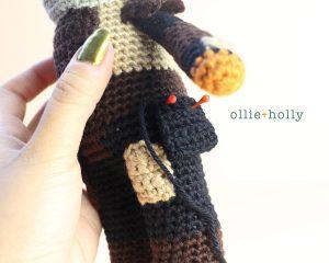 Free Mandalorian Din Djarin Amigurumi Crochet Pattern Assembly Step 7