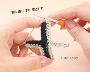 Free Mandalorian Din Djarin Amigurumi Crochet Pattern Helmet Visor Step 8