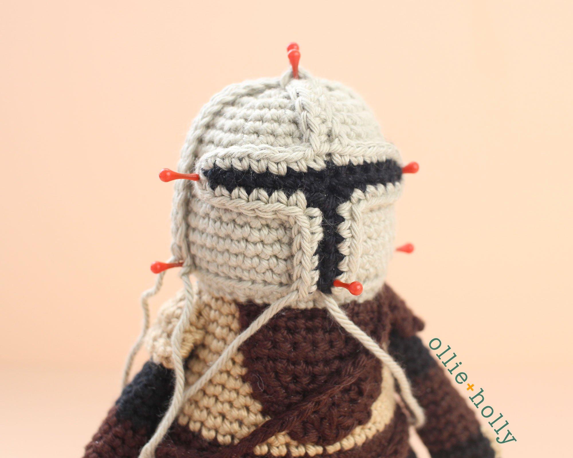 Free Mandalorian Din Djarin Amigurumi Crochet Pattern Assembly Step 11