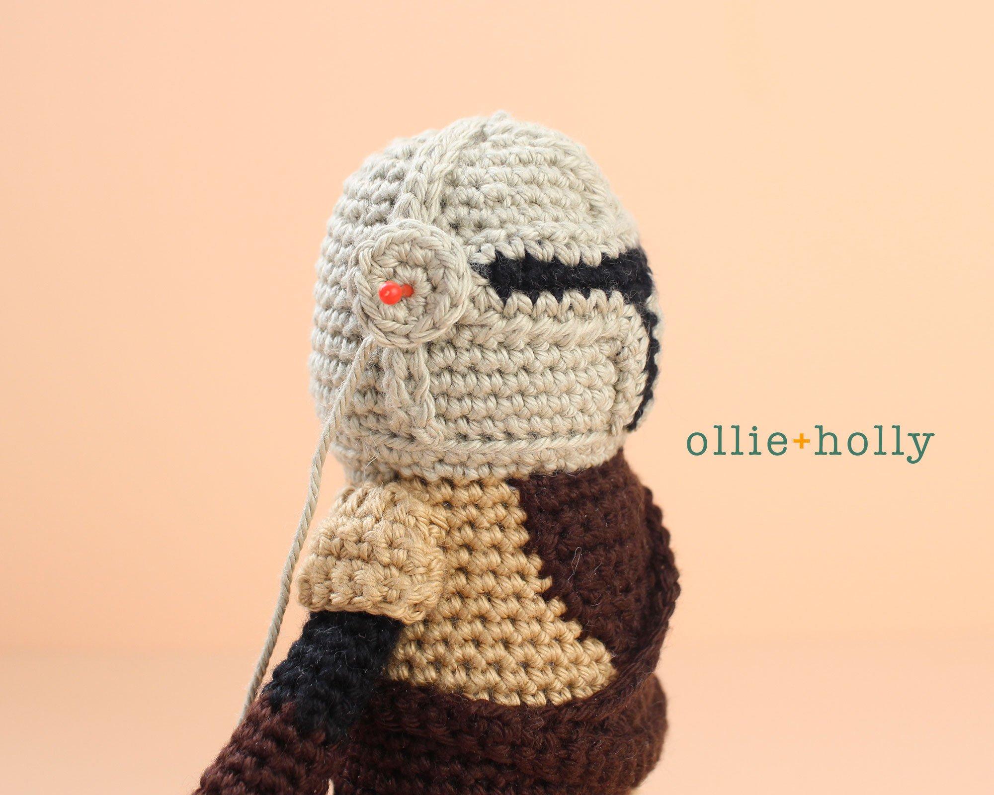 Free Mandalorian Din Djarin Amigurumi Crochet Pattern Assembly Step 13
