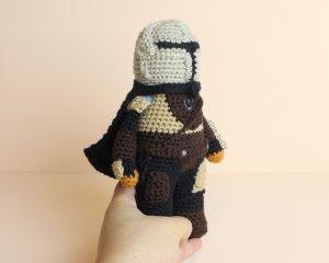 Free Mandalorian Din Djarin Amigurumi Crochet Pattern Assembly Step 17