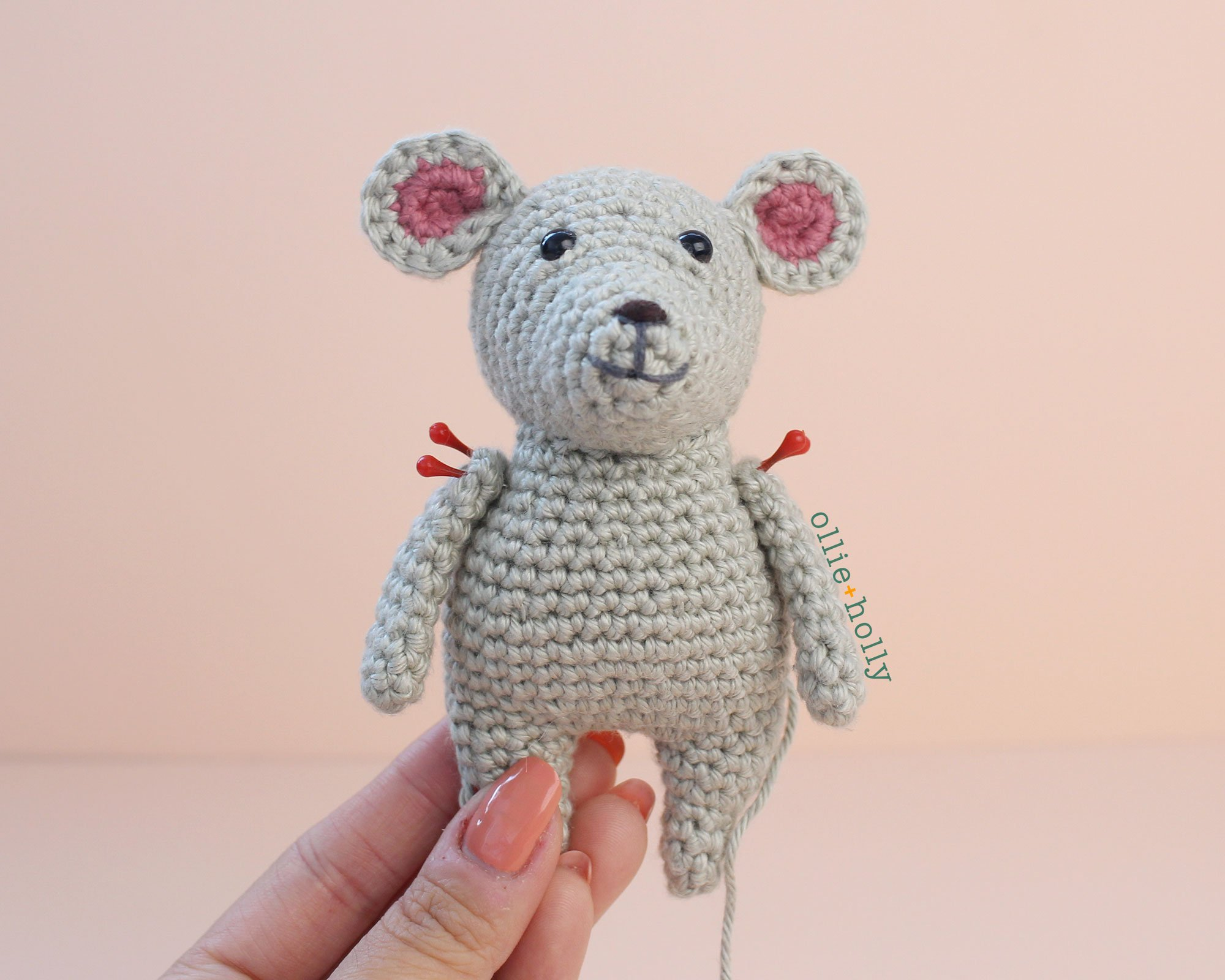 Free Chinese New Year Mouse Amigurumi Crochet Pattern Step 7