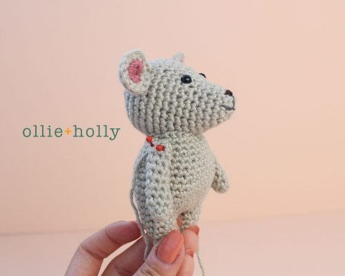 Free Chinese New Year Mouse Amigurumi Crochet Pattern Step 8