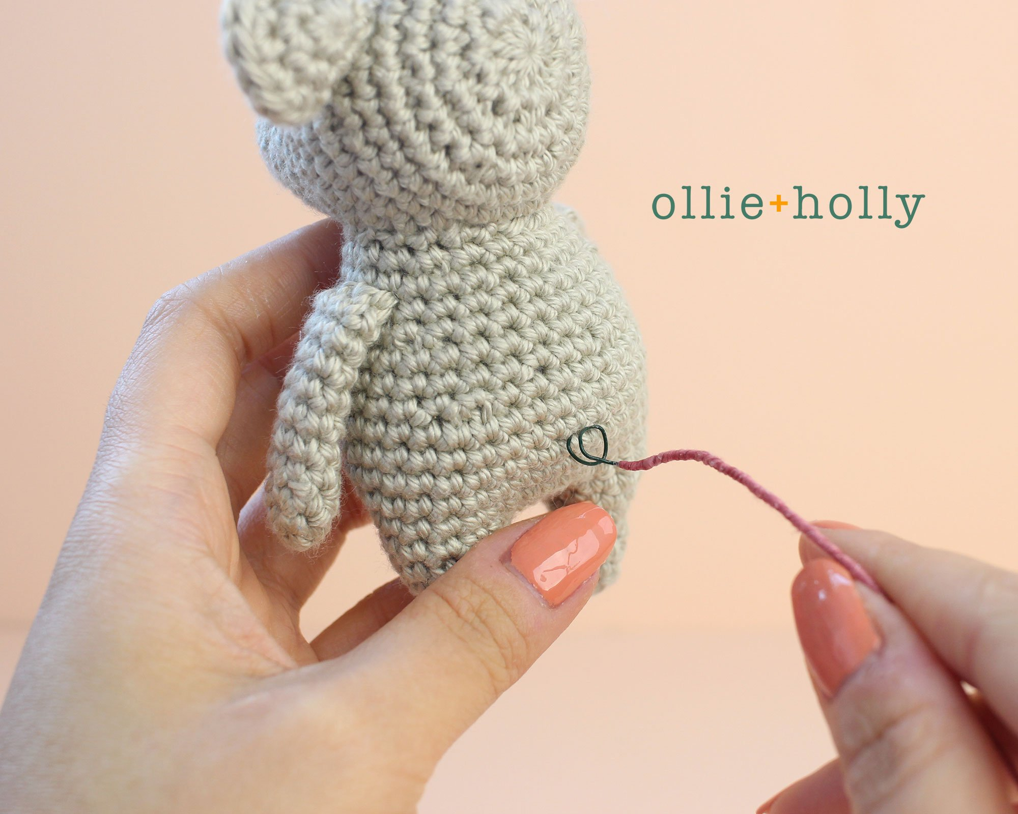Free Chinese New Year Mouse Amigurumi Crochet Pattern Step 15