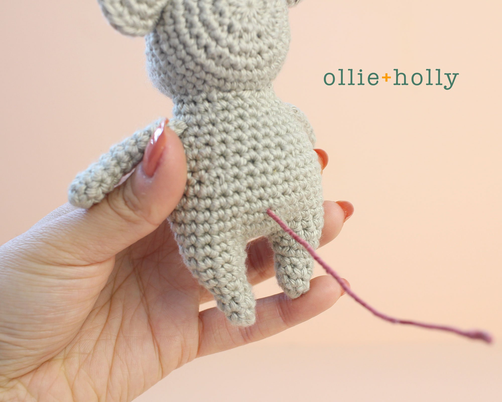 Free Chinese New Year Mouse Amigurumi Crochet Pattern Step 16