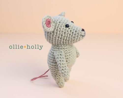 Free Chinese New Year Mouse Amigurumi Crochet Pattern Complete Side View