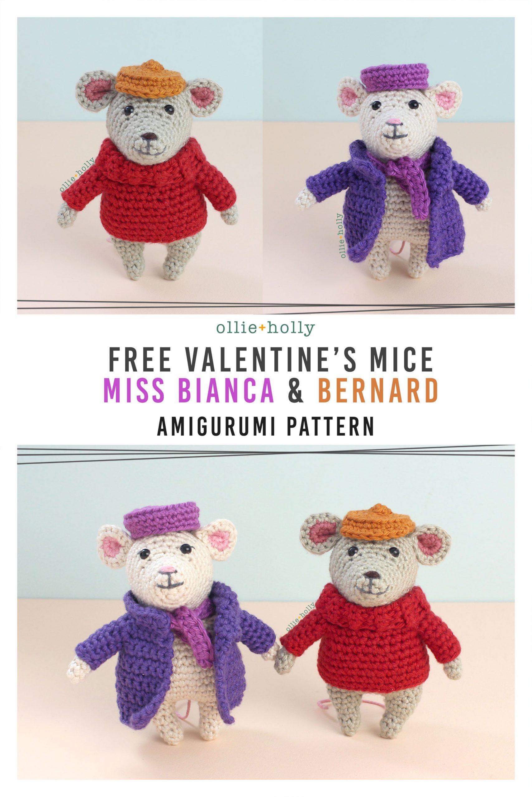 The Rescuers Miss Bianca & Bernard Mouse Free Amigurumi Crochet Pattern
