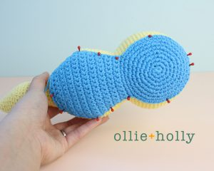 Free Dunsparce Pokemon Amigurumi Crochet Pattern Step 16