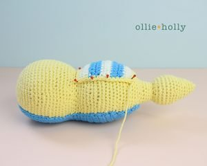 Free Dunsparce Pokemon Amigurumi Crochet Pattern Step 19